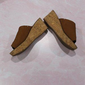 Sam Edelman Ranger Open Toe Wedge Sandals sz 8.5